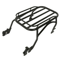 Black Detachable Solo Luggage Rack Fit For Harley Touring Road King 1997-2008 06
