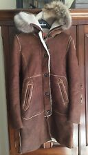 """Parajumpers 100% Shearling Leather Women's """"Boulder"""" Coat NWT!! MSRP $3795"""