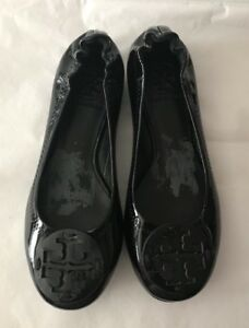 Tory Burch Women's Patent Leather Ballet Flats shoes Size 5M Black