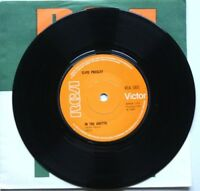 """EX Elvis Presley IN THE GHETTO / ANY DAY NOW 7"""" VINYL 45 (RCA 1831) SOLID CENTRE"""