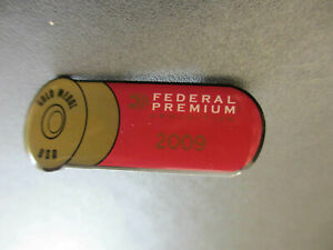Vintage 2009 Federal Gold Medal Shot Gun Shell Style Collectible Pin