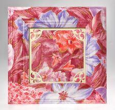 Cornice Portafoto da Tavolo per foto 13x13 cm ROSE FLOWERS in Legno Decorato