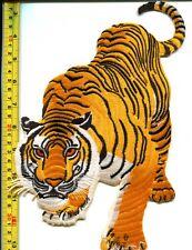 Tiger cat puma jaguar lion leopard applique iron-on patch HUGE XL 7 X 11 inches!