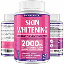 Glutathione Whitening Pills - 2000mg Glutathione - Better than Skin Lightening C