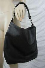 MANZONI dark brown 100% leather large tote hobo shoulder handbag EUC
