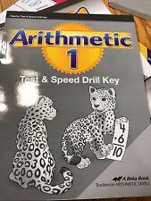 Abeka 1st grade Math Teacher Test and Speed Drill Key