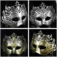Roman gladiator mens venetian filigree masquerade mask Halloween fancy dress