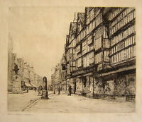 Dorothy Sweet: Houses in Holborn London 1920's / British Vintage S/Etching