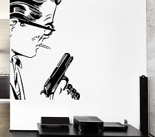 Wall Sticker Gangster Man With Gun Mafia Cool Decor For Living Room (z2596)