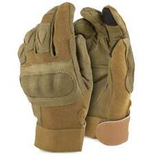 BTG Rhyno Military Combat Tactical Touchscreen Knuckle Gloves with Kevlar Coyote