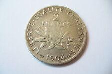 RARE  MONNAIE 2 FRANCS ARGENT  1904  - TTB+   !!