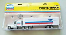 ERTL #371 FORD NEW HOLLAND PARTS TRUCK WITH VAN TRAILER, 1/64 DIECAST, sealed
