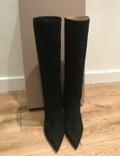 Giannvito Rossi Knee High Black Suede Boots. BNIB. Size IT40