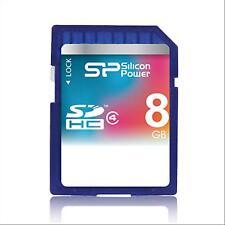 10 - SD Card 8GB Silicon Power 8 GB MEMORY SDHC CLASS 4 SCHEDA MEMORIA NUOVA