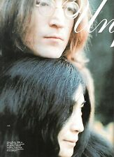 JOHN LENNON (Beatles) hairy Lennons  magazine PHOTO / Poster 11x8 inches