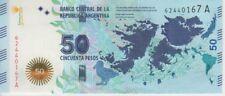 Argentina Banknote P362 50 Pesos 2015 Malvinas  (Falklands) Suffix A, UNC
