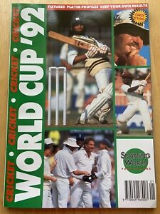 Cricket World Cup 92 Magazine - Sporting World Series 2 - Pakistan England