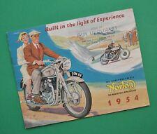 Original 1954 Norton Motorcycle Brochure Book 16H Big 4 18 ES2 Dominator 88 7