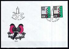 Estland 1992 FDC MiNr. 195-196  Weihnachten