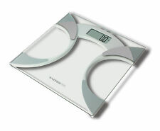 Salter Ultra Slim Glass Body Fat Analyser Digital Bathroom Scales 9141 WH3R