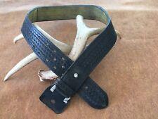 """Vintage Safariland Lined Basketweave Leather Police Duty Belt 34"""" Rick Grimes"""