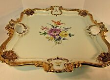 "BEAUTIFUL 16"" MEISSEN HANDLED SERVING TRAY PLATTER"