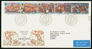 Mayfairstamps GREAT BRITAIN FDC 1988 COVER THE ARMADA STRIP OF 5 wwi95321