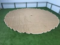 4M and 5M Jute matting carpet Bell tent lightweight Coir Matting alternative
