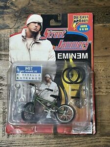 Vtg 2000 Street Jammers Eminem Slim Shady Die Cast BMX Bike Tech deck