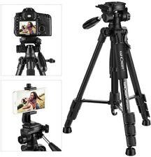 K&F Concept Pro Aluminum Camera Travel Tripod Pan Head Portable w/ Phone Holder