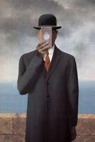 Son of Mans New Apple Rene Magritte Parody Art Humor Poster 12x18