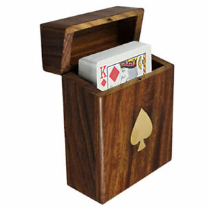 Personalised Standard pack of Playing Cards in wooden Storage Box, Engraved