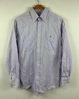 Lacoste Mens Button Up Shirt Size 40 / Medium Long Sleeve Mauve Button Down