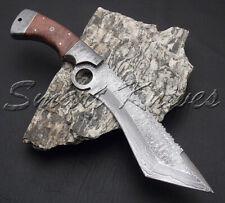 Cuchillos inteligente Hecha a Mano De Acero Damasco Cuchillo de caza Kukri Bowie tanto dedo