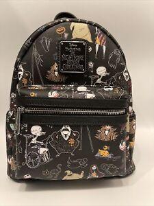 Loungefly Disney Nightmare Before Christmas AOP Mini Backpack NWT B/7