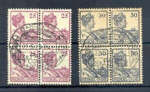 DUTCH INDIES-INDONESIA 1929-PM=CONGRES BANDOENG PACIFIC =# 124-125- BL OF 4-F/VF