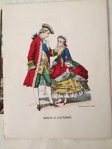 ENFANTINA. Image D'Epinal : Manon La Couturière vers 1970.