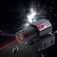 Red Laser Beam Dot Sight Scope For Gun Rail Pistol Weaver Attachment Tactical