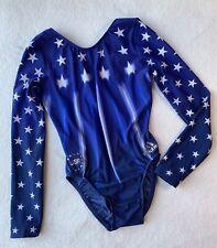 New listing ADIDAS GK Gymnastics Leotard TEAM USA Bling SWAROVSKI Rhinestone STARS Size: AXS