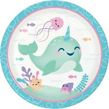 Narwhal Party Paper Plates, 24 Count