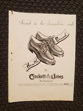 Crockett & Jones Shoes - 1949 Advertisement