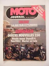Motorcycle Journal June 1980 No.466 400 Yamaha 250 Honda Benelli 4 RDLC