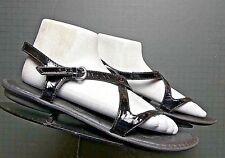 Women's Born Black Patent Leather Slingback Sandal Sz. 42/10