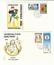 Gibraltar: 5 first day cover interesting thematic Christmas. GI37