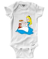 Infant Gerber Onesies Bodysuit Clothes Baby Cute Alice in Wonderland Cat Kitty