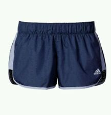 """Adidas Women's Medium M10 Perforated Woven Running Mineral Blue M 3"""" Shorts"""