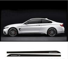2pcs M Performance Side Skirt Sill Decal Stripe Sticker for BMW 3 Series F30 F31