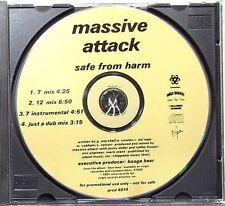 Massive Attack Safe From Harm 4 Track Promo CD * PRCD 4014 *
