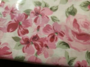 Laura Ashley Savannah QUEEN Sheet 4PC Set 100% Cotton White Pink Floral New