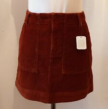 URBAN OUTFITTERS Super-Cute Orange Corduroy Carpenter Mini-Skirt S RRP£39